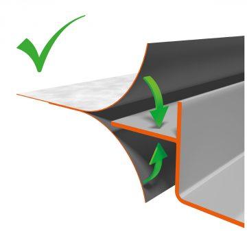 Pre-assembled sealing membrane