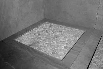 Grate square shower drain