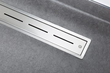Vinyl linear shower drain