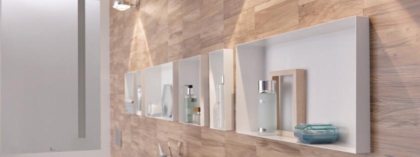 C Box Shower Niche Storing Bathroom Items