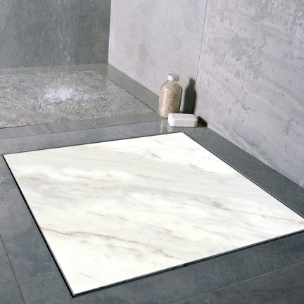 square marble shower drain