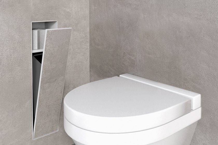 Waste Container Storage Compartment Anthracite Easy Drain - Bathroom compartment