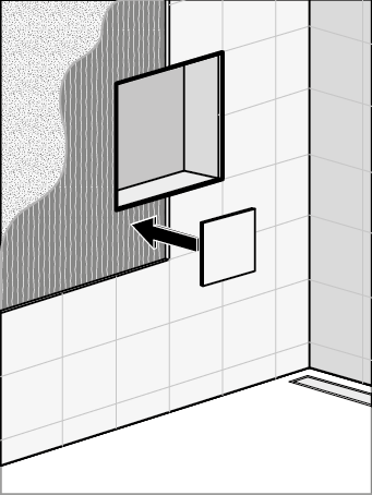 How To Make A Bathroom Wall Niche Easy Drain