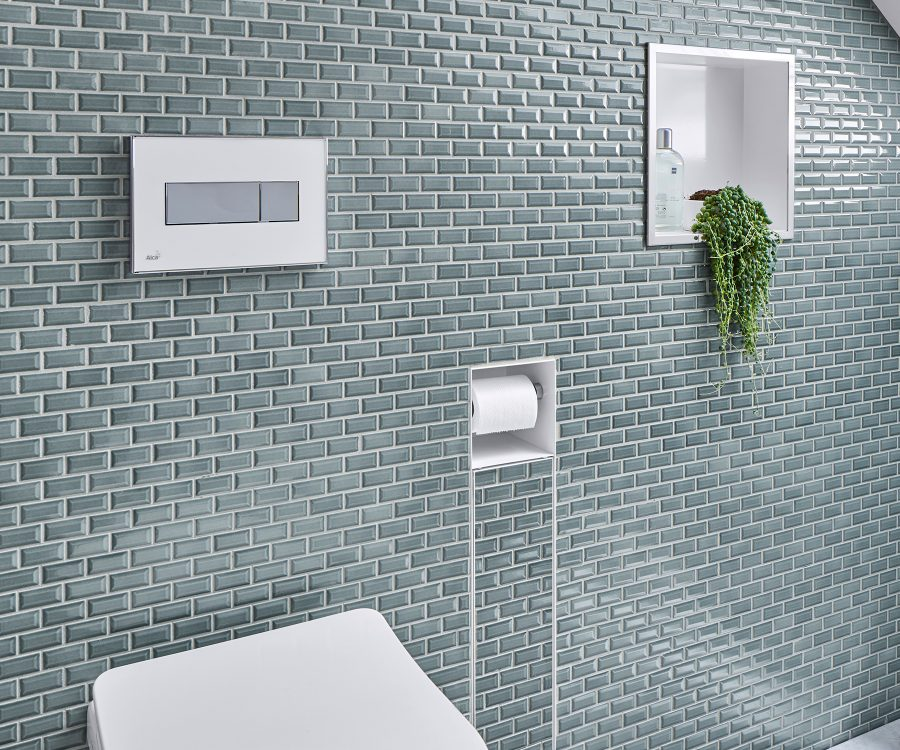 wall niche inspiration small tiles