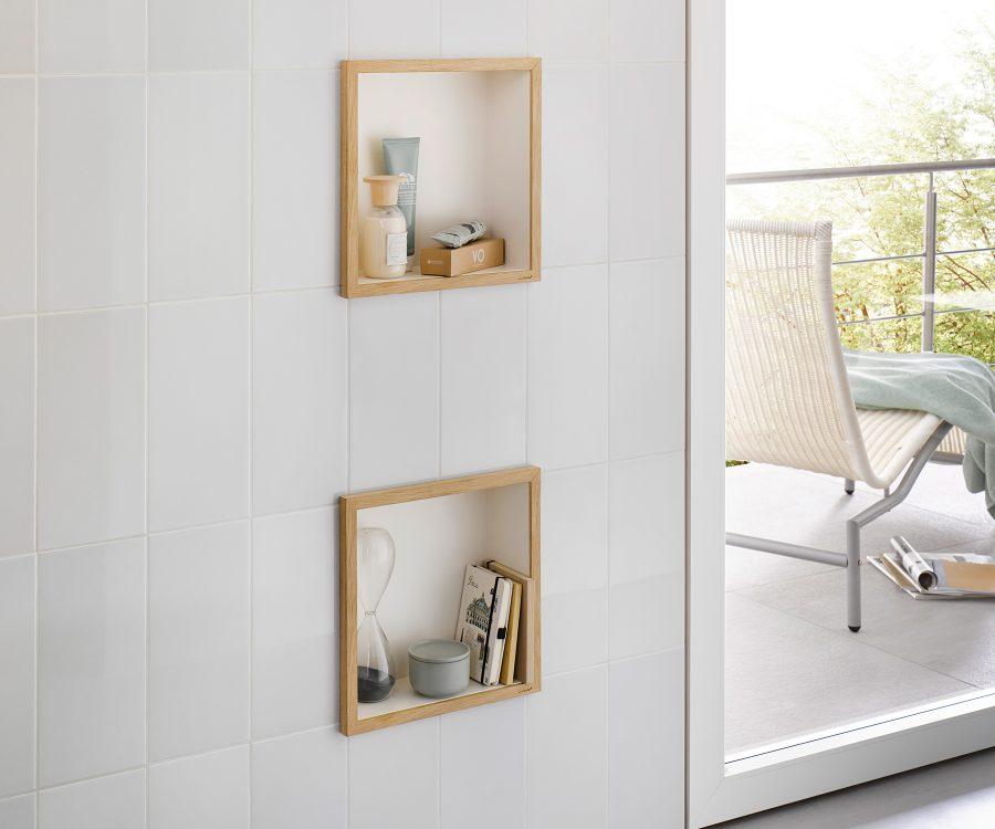 wall niche wooden frame