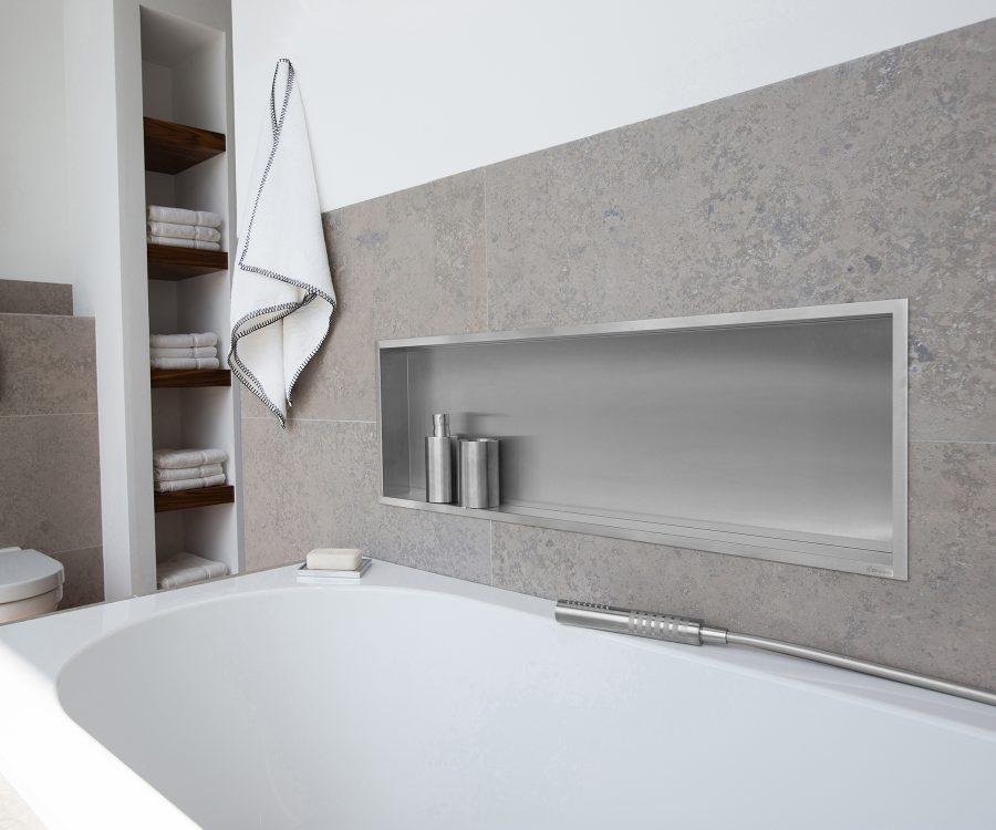 wall niche bathroom idea storage