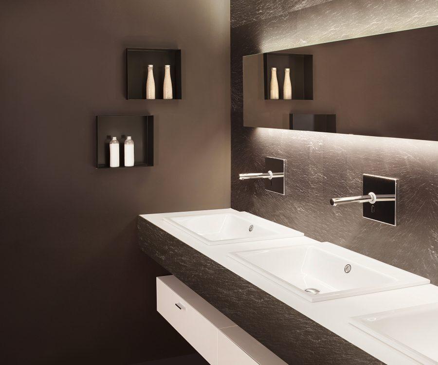 luxurious bathroom ideas wall niche