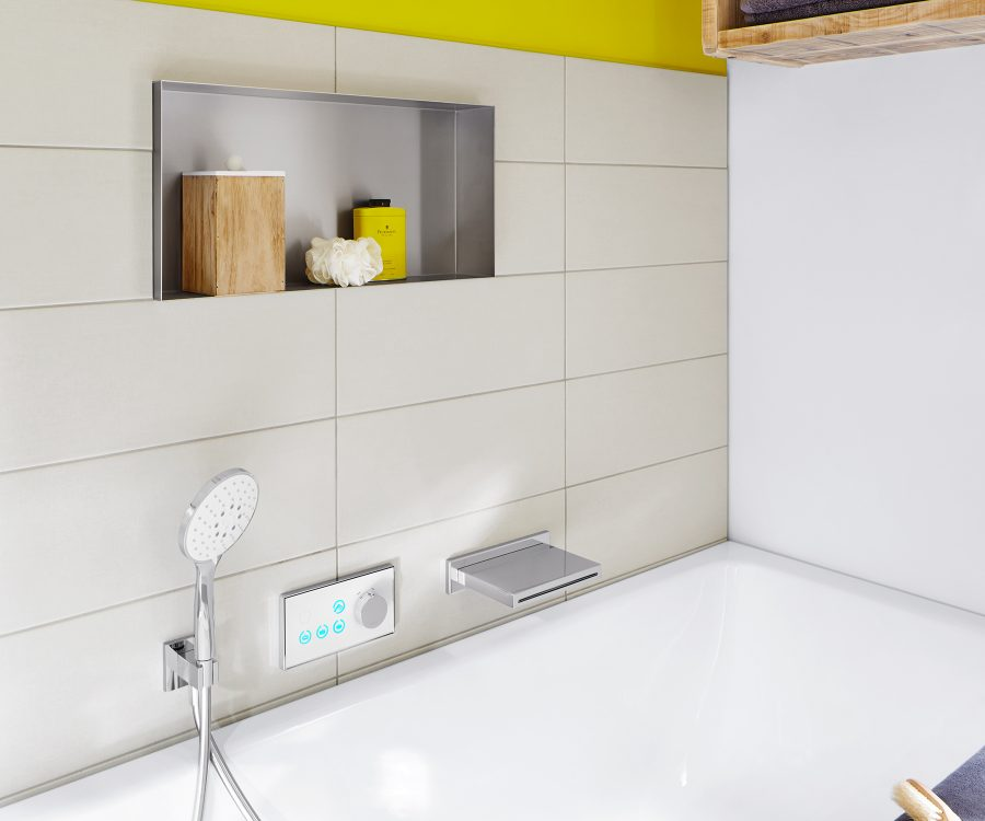stainless steel wall niche bathroom