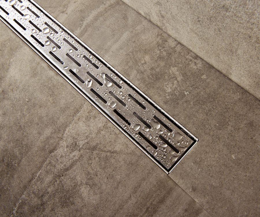 compact closeup shower drain