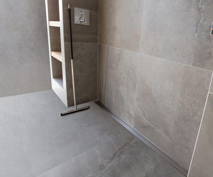 long shower drain size