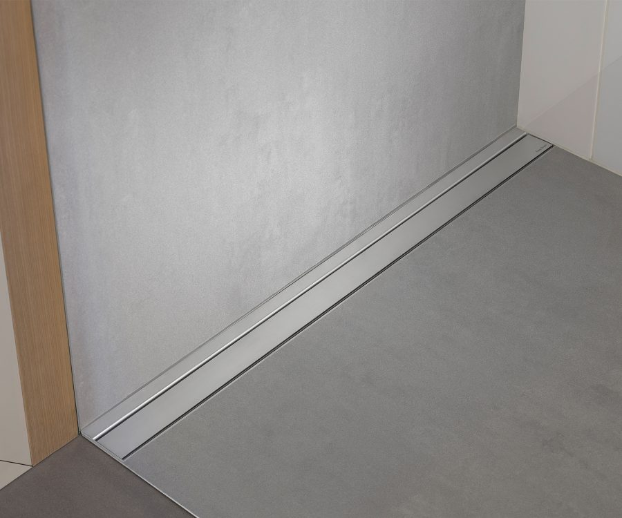 wall to wall installation shower drain linear