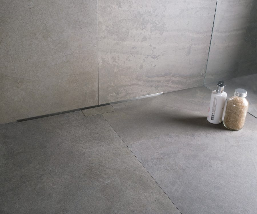 hidden shower drain for wet room