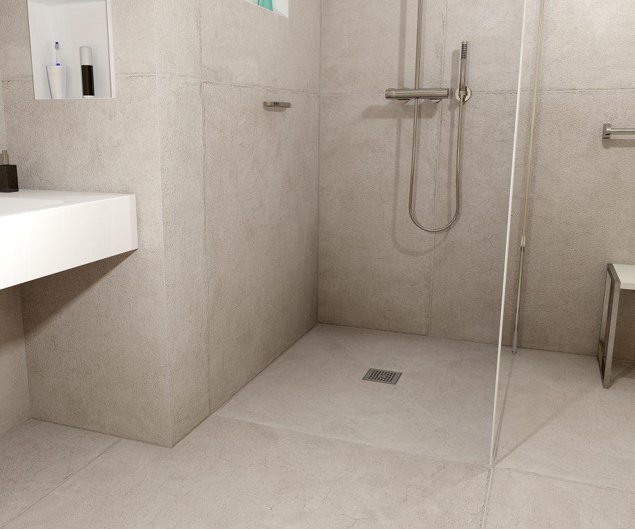 waterproof shower drain