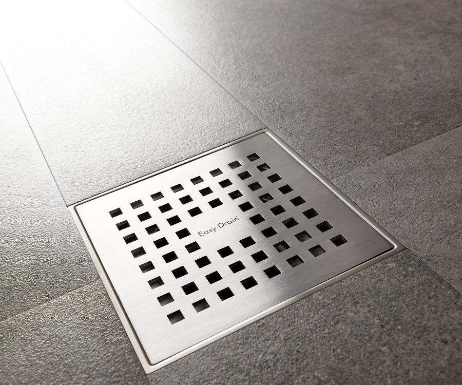 square through shower drain