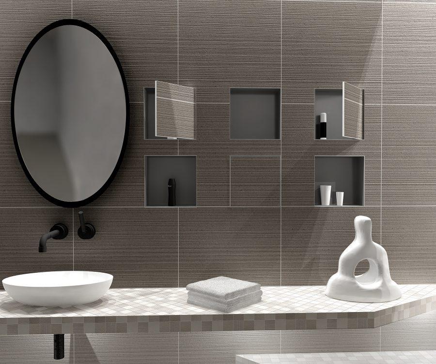 hidden wall niches bathroom
