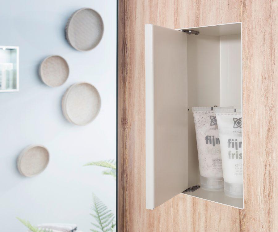 wall niche with door