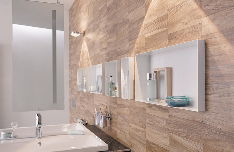 . How to  make a wall niche in your bathroom   Easy Drain