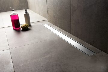 Linear Shower Drains Easy Drain Barrierfree Showering - Bathroom floor drain installation
