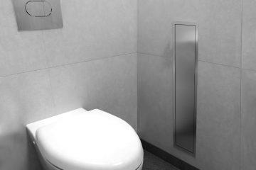 Toilet brush holder & niche