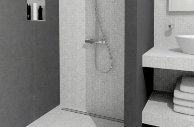 为你的浴室地板找到正确类型的淋浴排水道