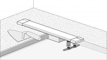 easy drain duschrinne einbauen easy drain. Black Bedroom Furniture Sets. Home Design Ideas
