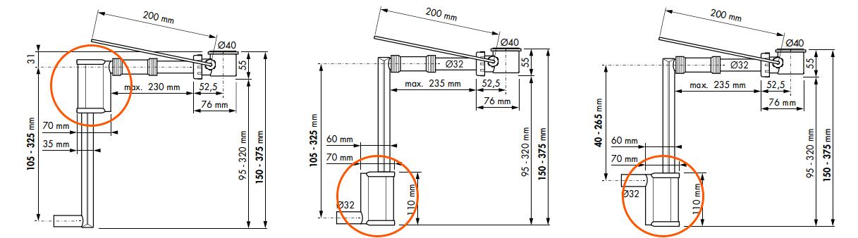 Ruimtebesparende sifon - Slim Serie: creëer eenvoudig meer ruimte