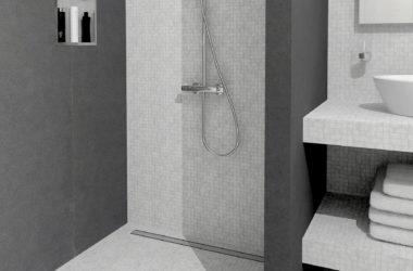 Welk type douchegoot is geschikt voor welke badkamervloer?