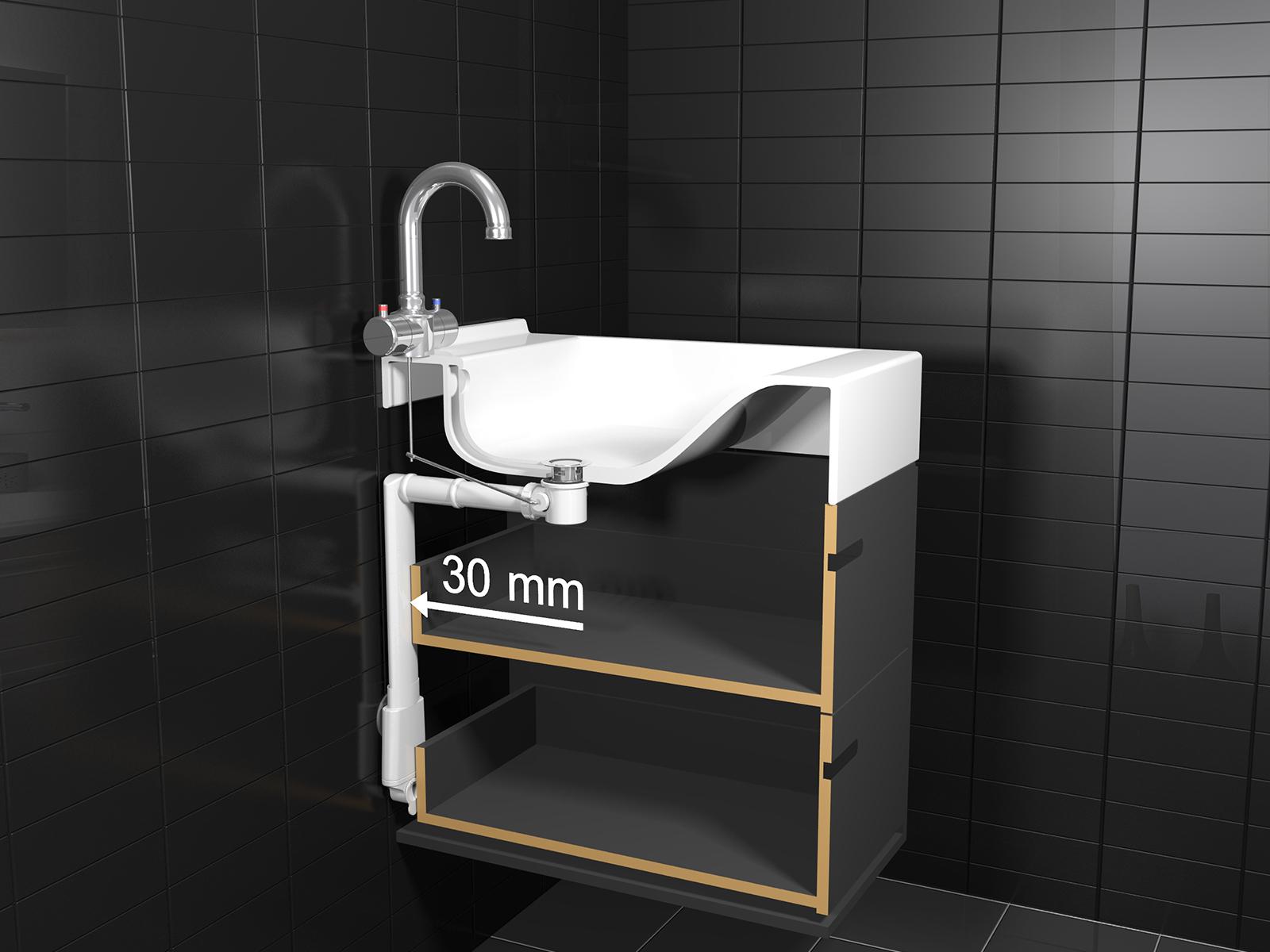 Platte Afvoerbuis Toilet : Ruimtebesparende sifon easy drain