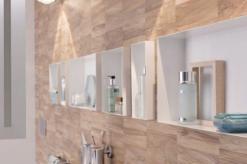 C box blanc easy drain for Niche murale salle de bain