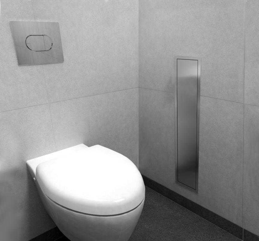 easy drain encastrement wc niche murale et brosse toilette. Black Bedroom Furniture Sets. Home Design Ideas