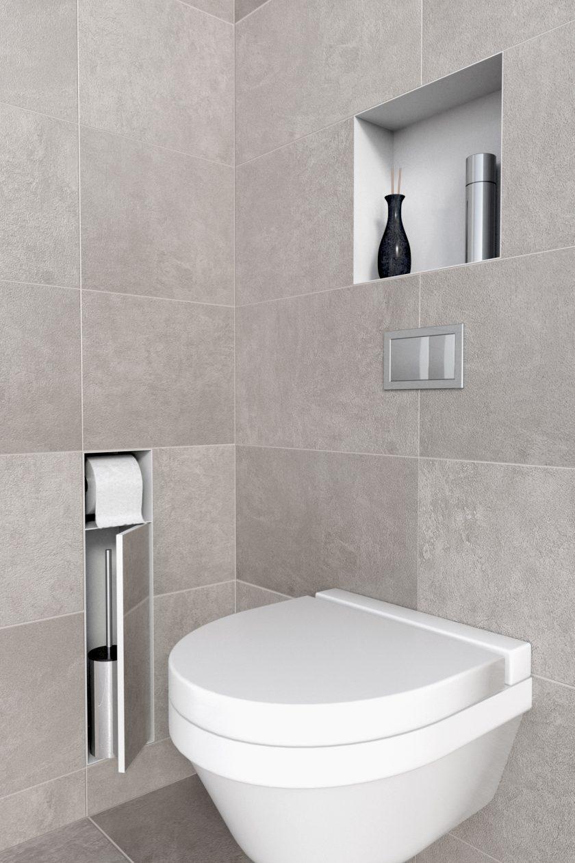 Porte Brosse Pour Toilette Amp Niche Blanc Easy Drain