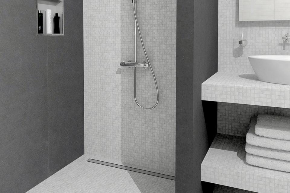 Trouver le type de caniveau de douche adapté au sol de votre salle de bain