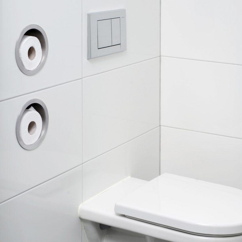 easy drain wc papierhalter round badaccessoires. Black Bedroom Furniture Sets. Home Design Ideas