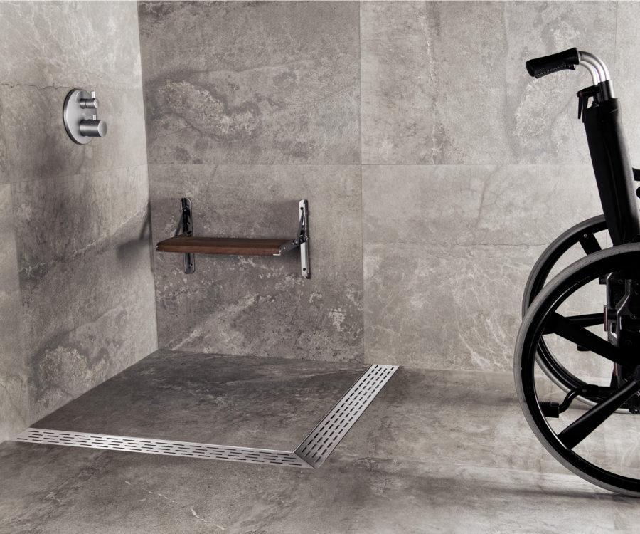 Bodengleiche duschrinne