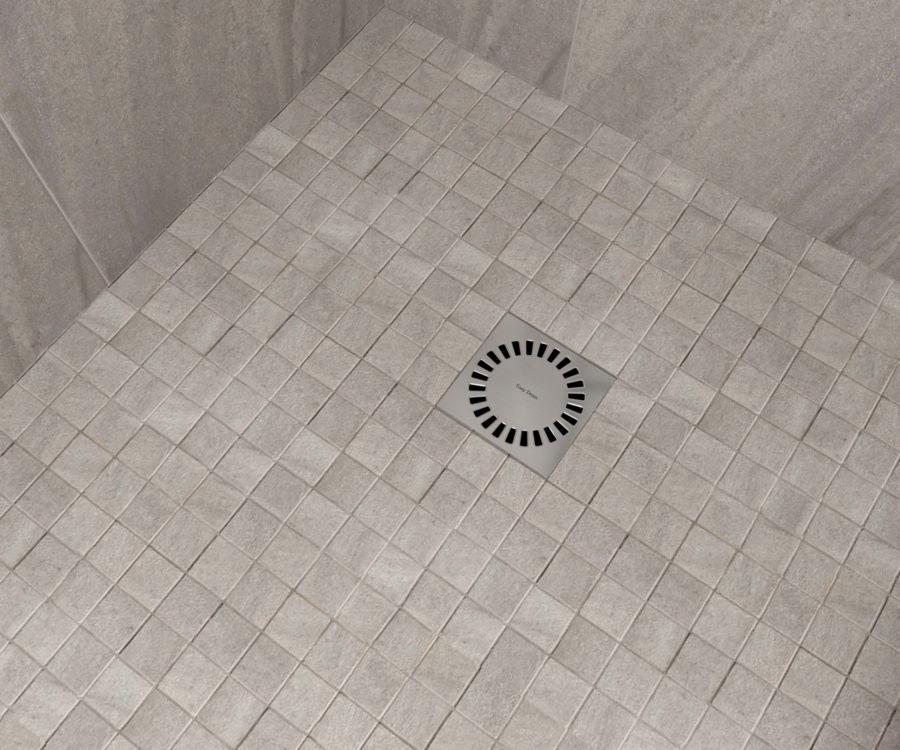 quadratische Duschrinne
