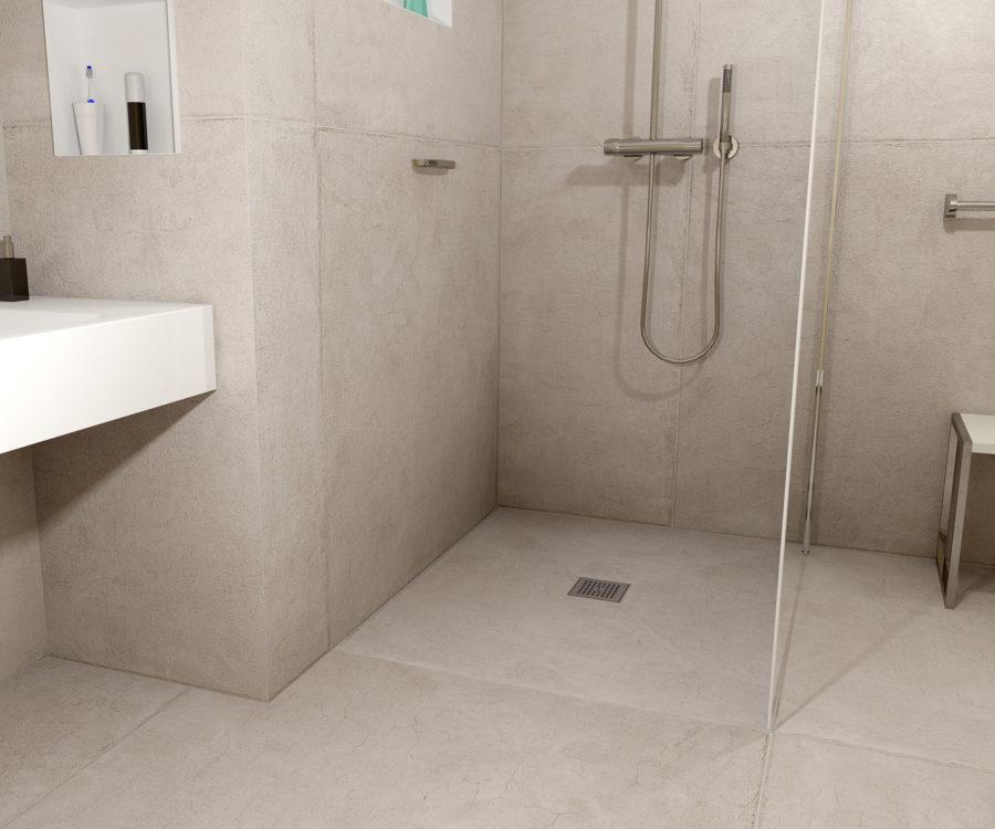 Badezimmer idee Bodenabläufe