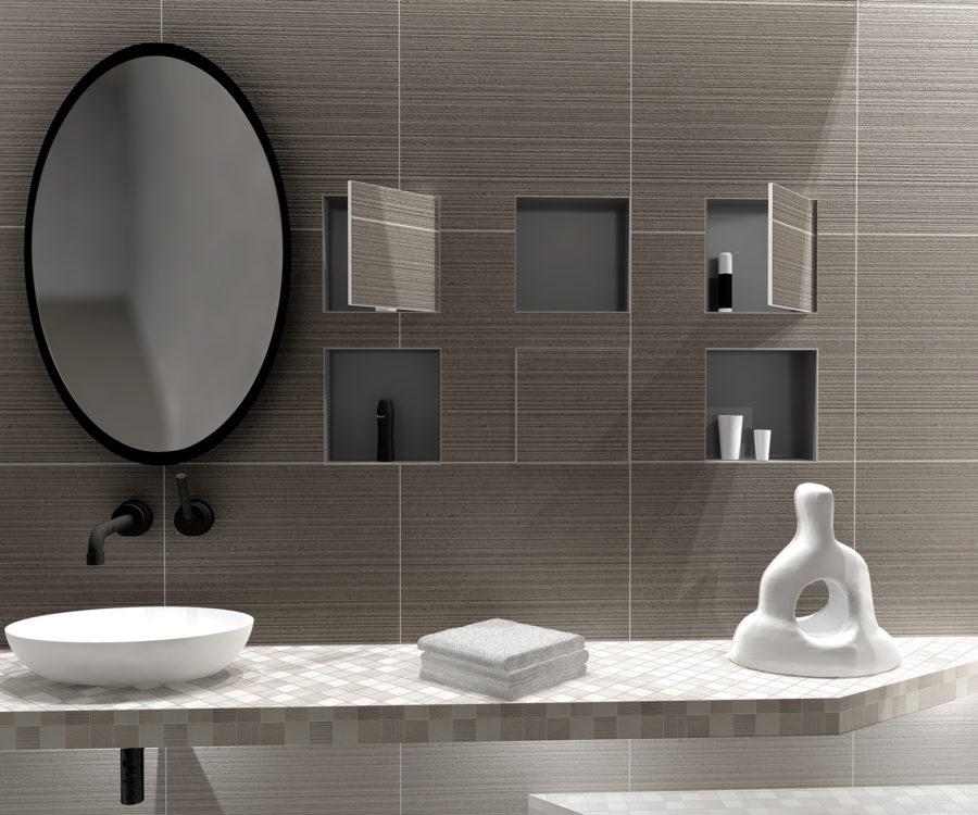 Wandnisches Badezimmer