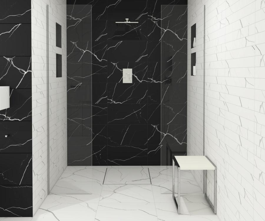 Badezimmer design Duschrinne Idee