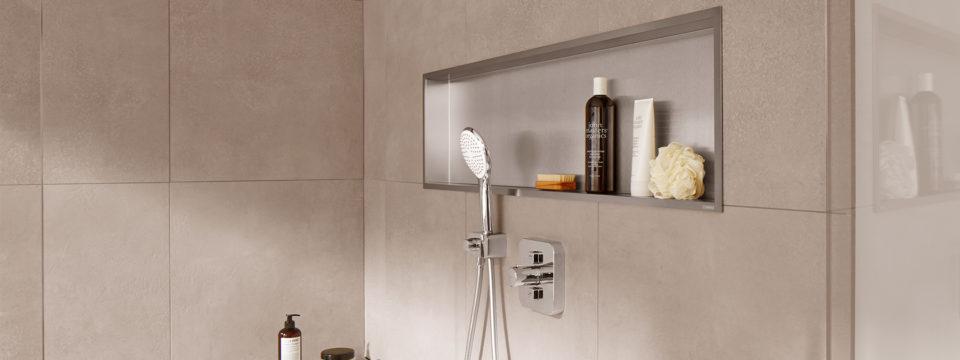 Cómo instalar una hornacina de pared en el baño (2)