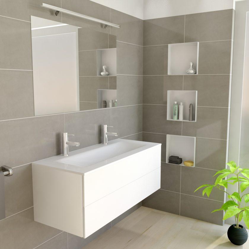 Easy drain c box nicchia da parete - Nicchie in bagno ...