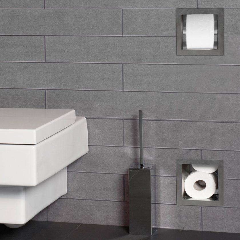 Easy drain porta rotolo con riserva per 5 rotoli - Porta carta igienica design ...