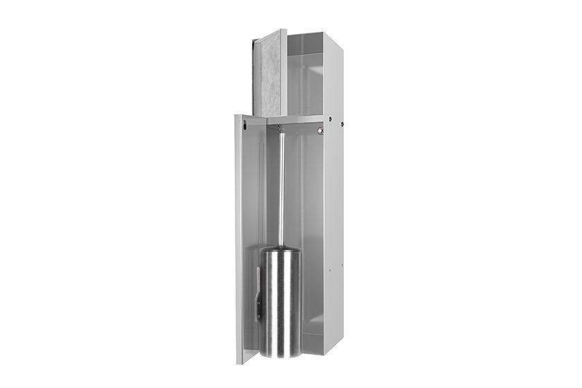 Porta Scopino Da Bagno : Porta rotolo e porta scopino integrato acciaio inossidabile