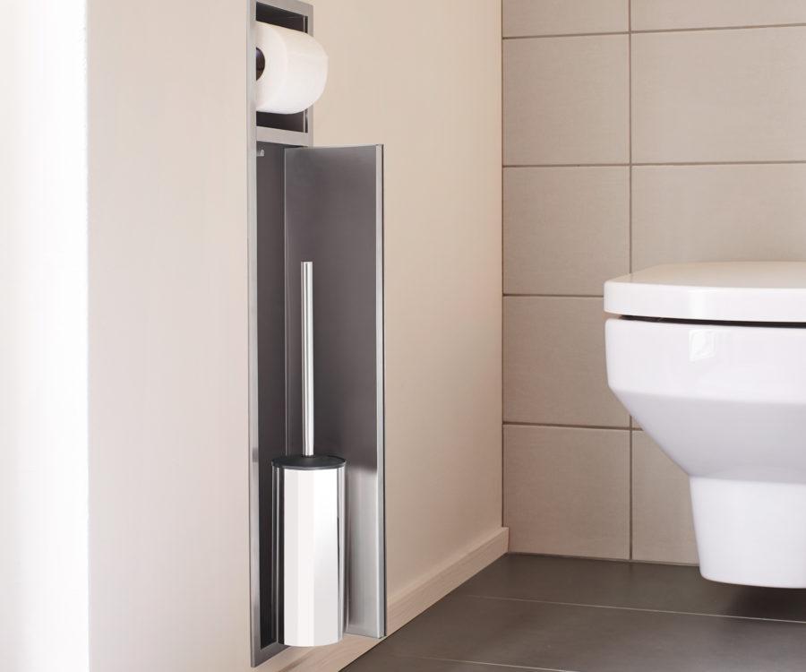 Scopino Da Bagno Design : Porta scopino porta rotolo easy drain