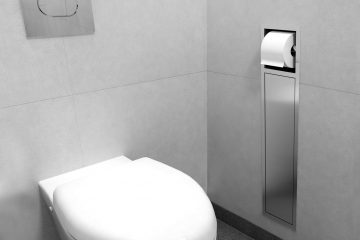 Invisible Storage Solution With Toilet Roll Holder. Brush Holder U0026 Paper  Holder
