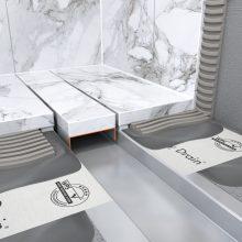 Frameless design drain for natural stone floors